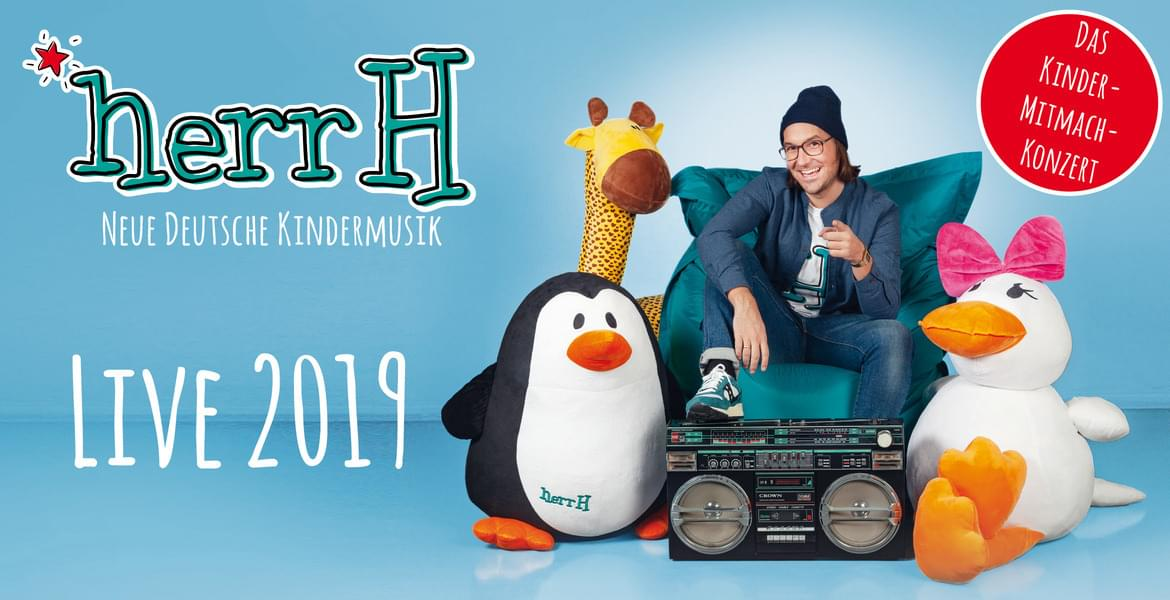 Tickets herrH, Neue Deutsche Kindermusik – Live 2019 in Darmstadt